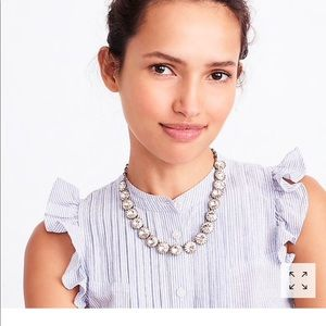J. Crew Brass-Plated Crystal Necklace